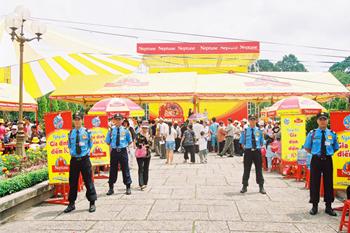 Bảo vệ hội chợ, lễ khánh thành